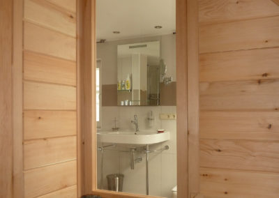 Ausblick aus Sauna