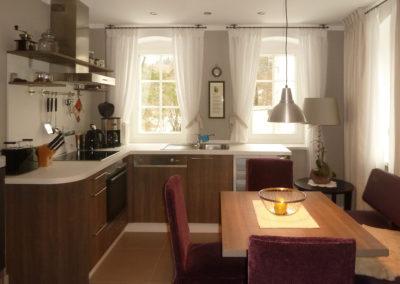 Essen und Kochen Appartement 1